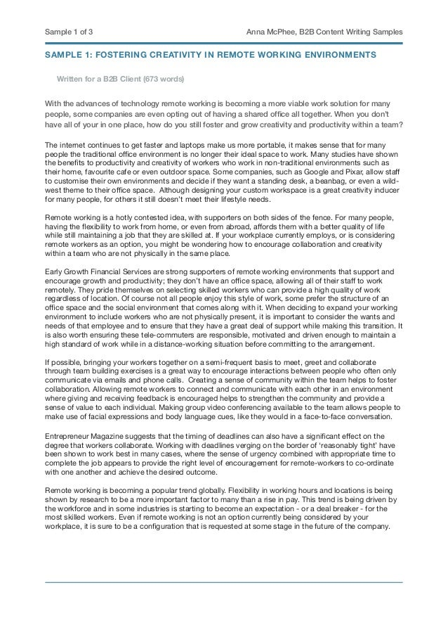 Business essay example