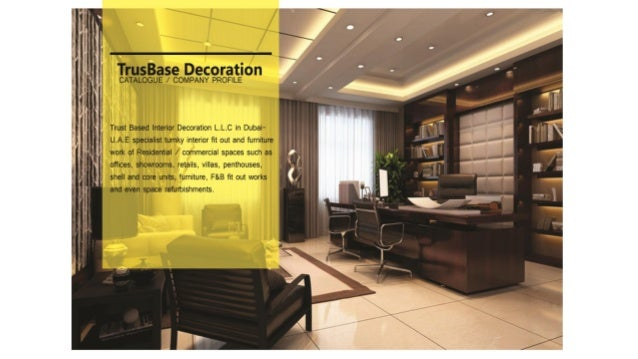 Interior Design Portfolio – Trust Base Interior Decoration, Dubai