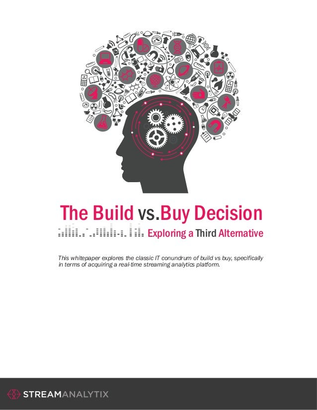 The Build vs.Buy Decision Exploring a Third Alternative This whitepaper explores the classic IT conundrum of build vs buy,...