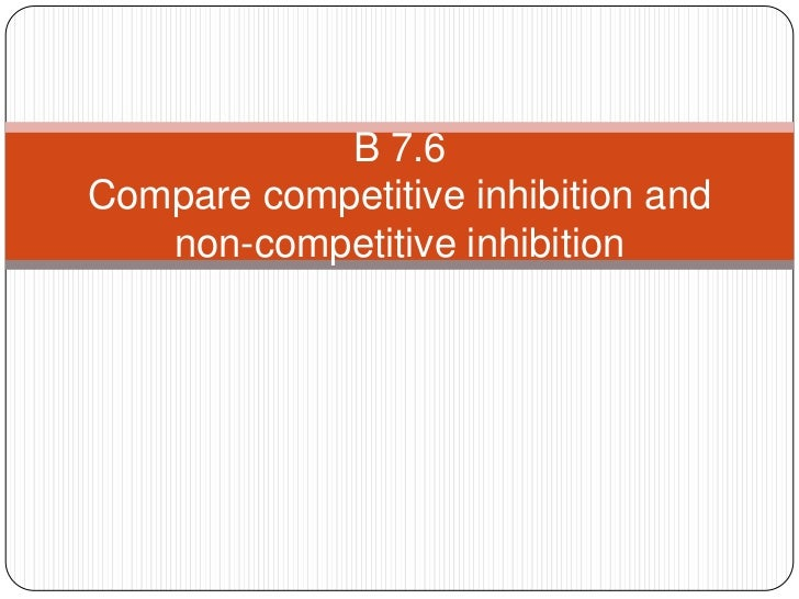 B 7.6Compare competitive inhibition and   non-competitive inhibition