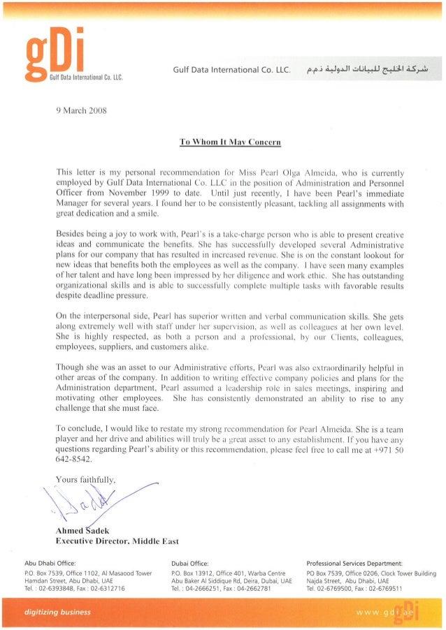 Ahmed Sadek reference letter