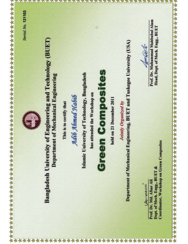 aed5efb6ab32 Green Composites Certificate BUET