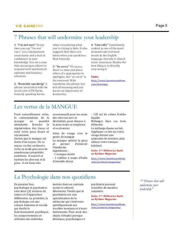 Newsletter-Vie Saine Juillet!!!!! Slide 3