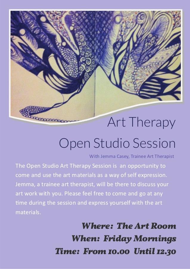 Art therapy poster open studio linkedin art therapy open studio session where the art room when friday mornings time solutioingenieria Gallery