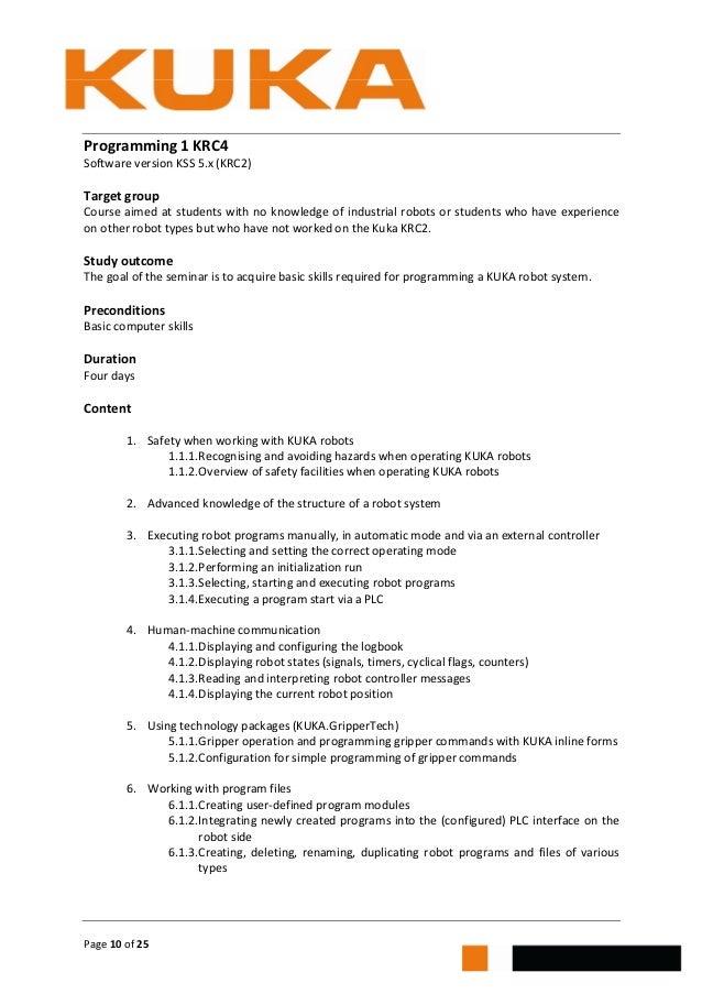 kuka training brochure jendamark south africa rh slideshare net KUKA KR C4 Manual Kuka Automation
