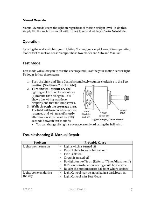 Heath Zenith Motion Sensor Light Instructions Image Collections