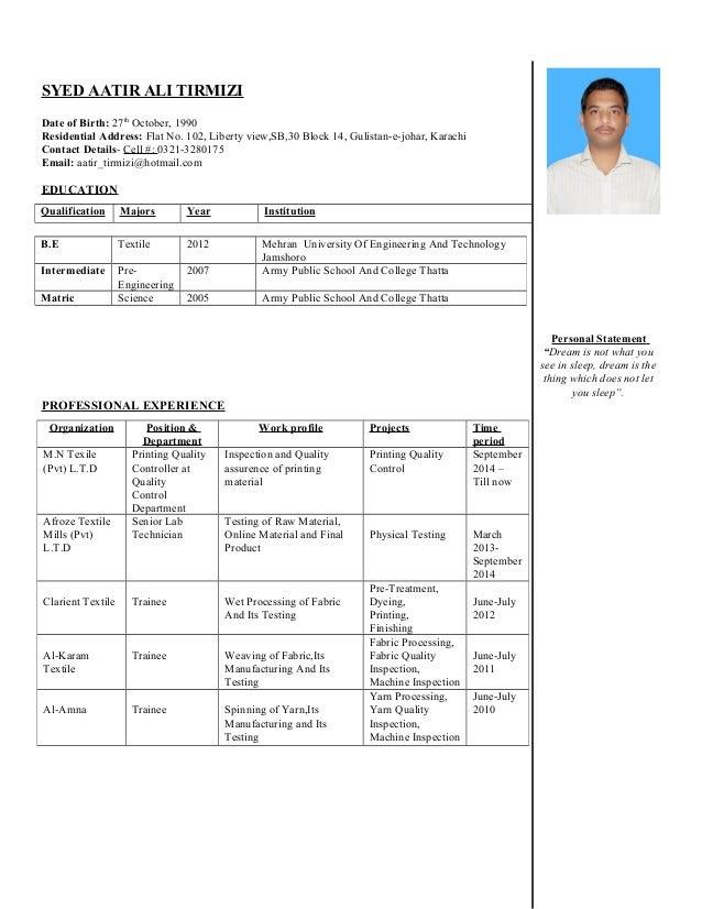 Syed Aatir Ali Tirmizi-CV