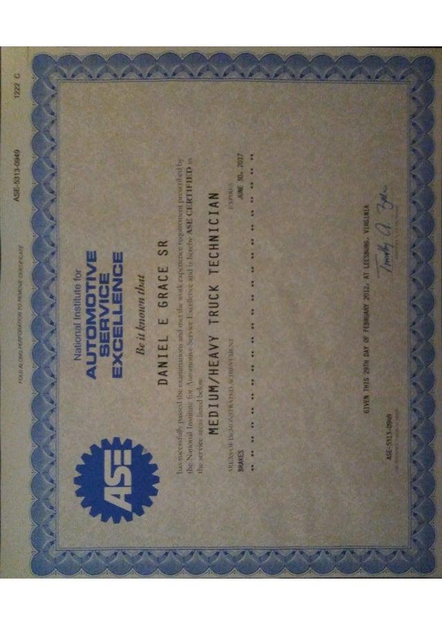 Ase Certificate