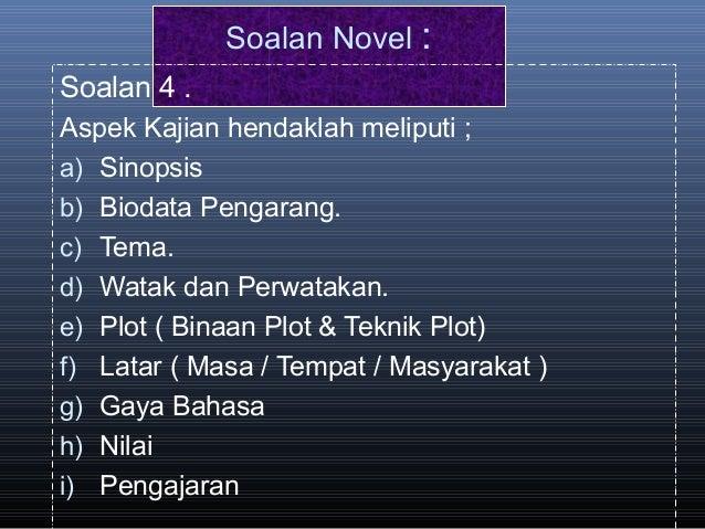 Teknik Menjawab Soalan Novel SPM (Bahasa Melayu)