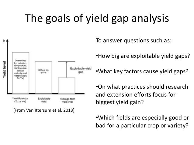 Determination of yields