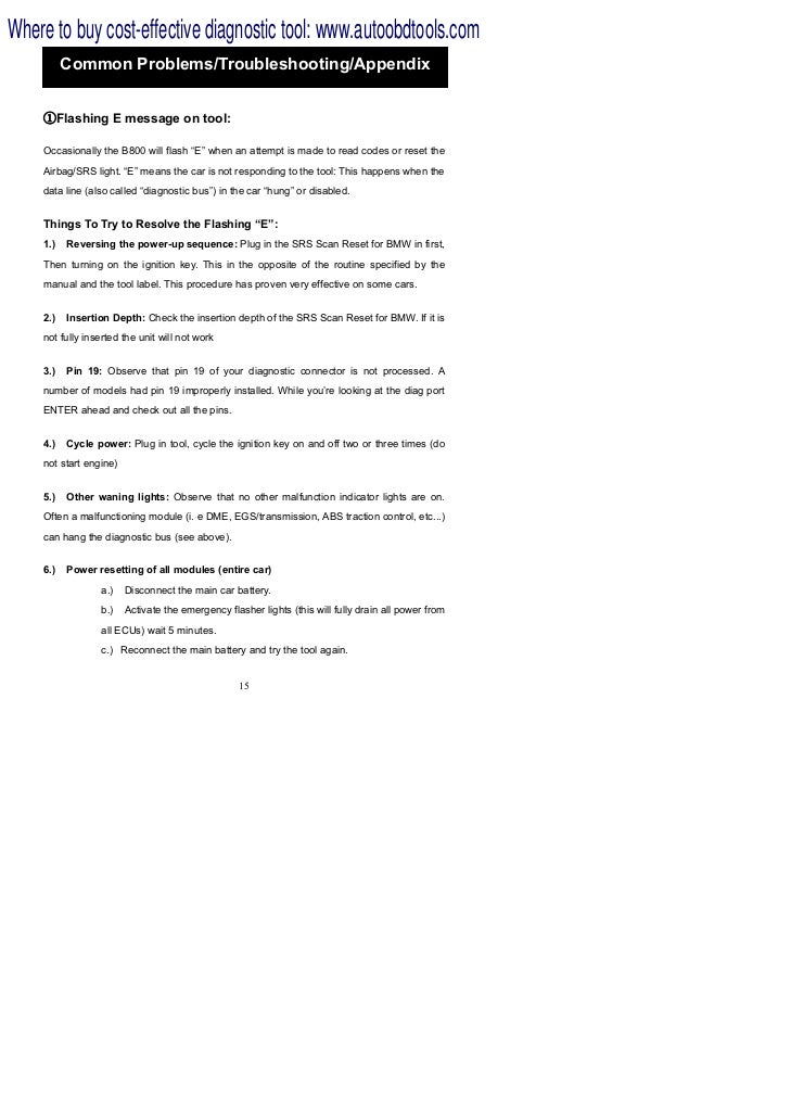 B800 bmw-airbag-srs-scan-reset-tool-user-manual