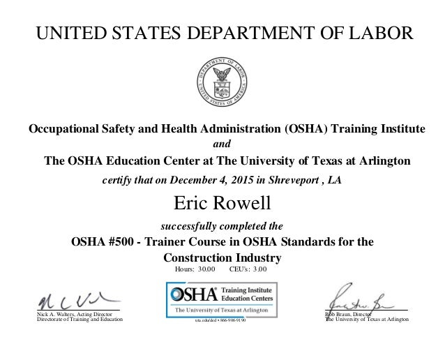 Rowell, Eric- OSHA _500