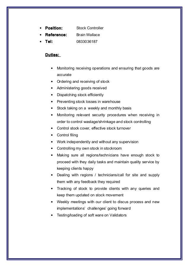 Warehouse Director Resume Job Description Of Assistant