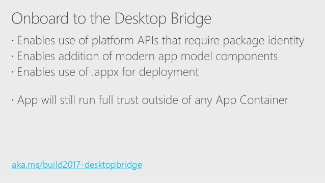 Build 2017 - B8110 - Modernize WinForms and WPF apps with
