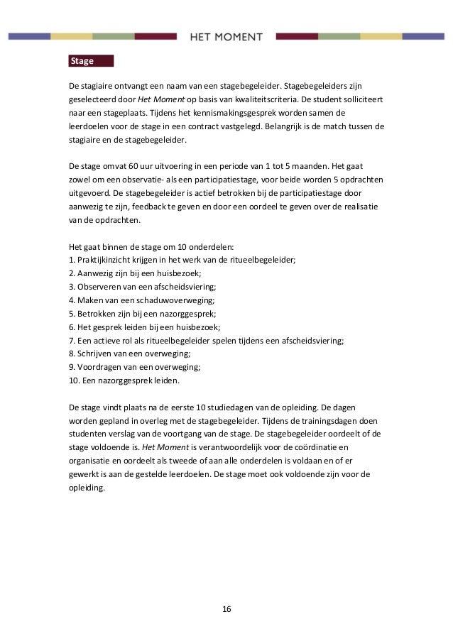 Stage Brief Schrijven | hetmakershuis