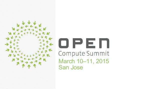 March 10–11, 2015 San Jose