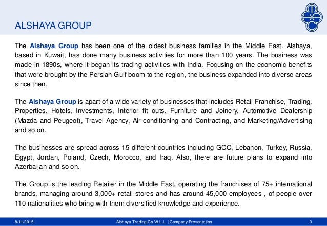 Alshaya Trading presentation(low res)