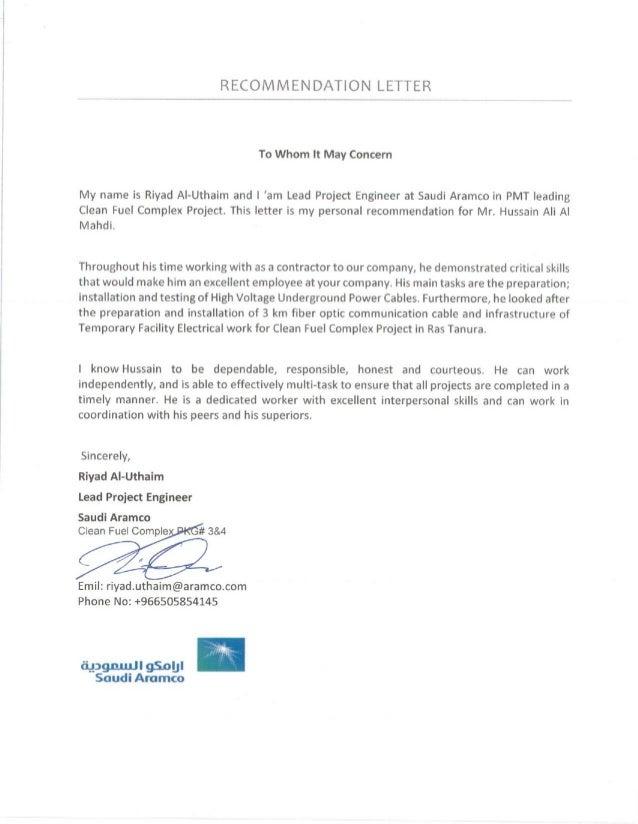 Recommendation Letter 1-