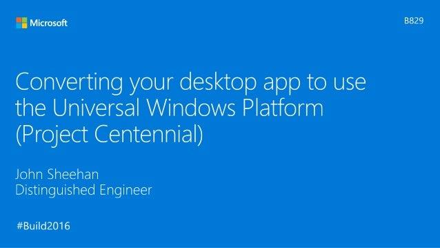 how to build a windows desktop application