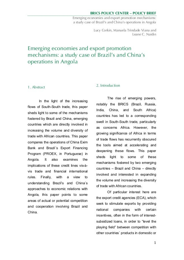brazil leading brics case study 1 Brics is an international association of emerging national economies: brazil, russia, india, china, and south africa the member countries represent a mix of economies with developing countries like brazil, india, china and south africa and a developed country like russia.