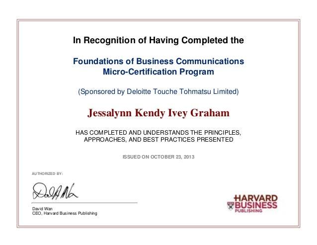 Merged Certificates