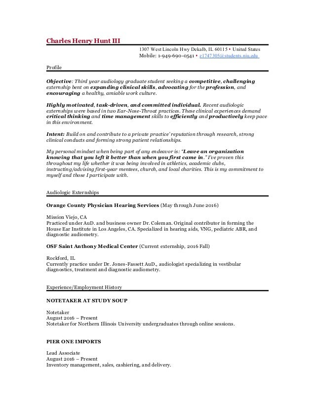 resume updated 2016