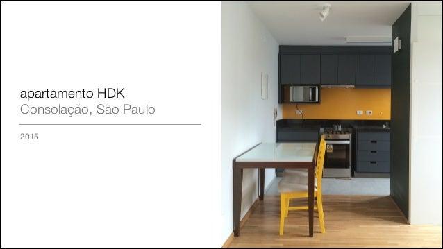 apartamento HDK Consolação, São Paulo 2015