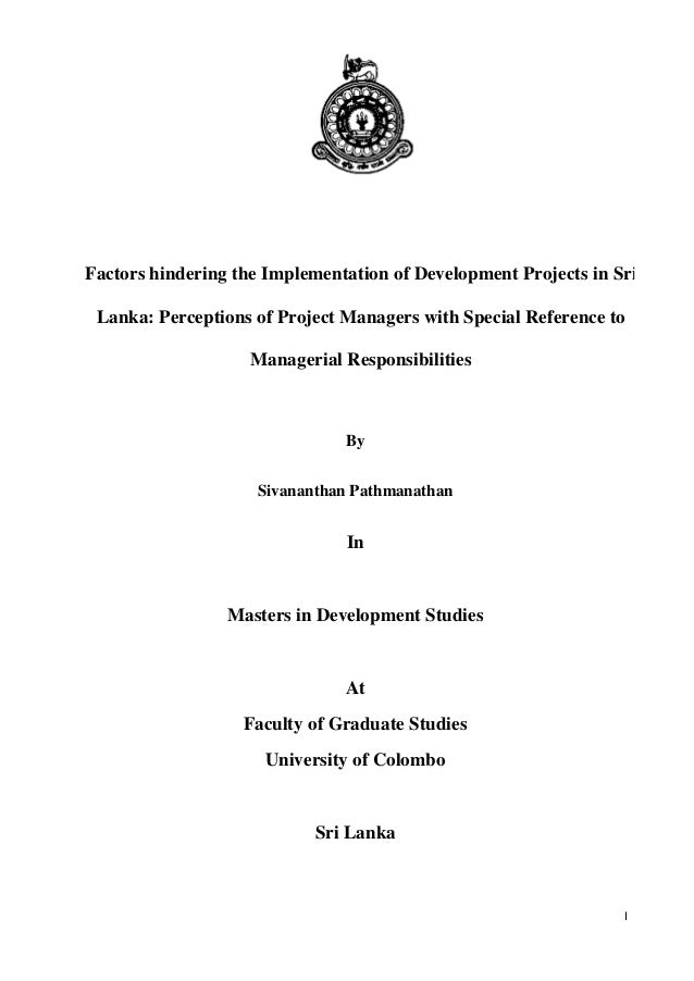 Master development studies thesis