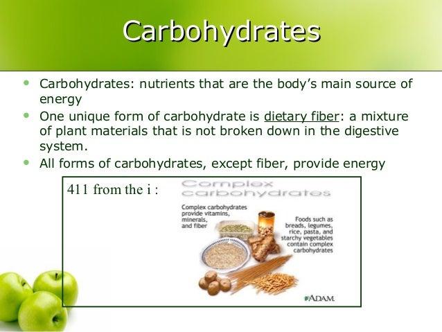 Unit 3 Nutrition Slide Show