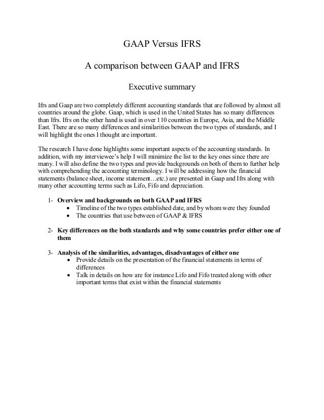 advantages and disadvantages of gaap and ifrs