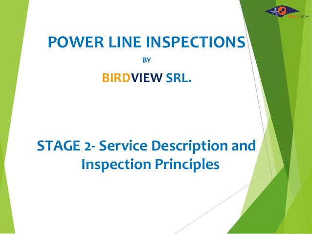 POWER LINE INSPECTIONS BY BIRDVIEW SRL. STAGE 2- Service Description and Inspection Principles