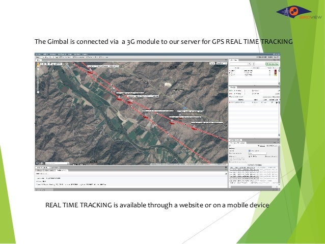 The Gimbal is connected via a 3G module to our server for GPS REAL TIME TRACKING REAL TIME TRACKING is available through a...