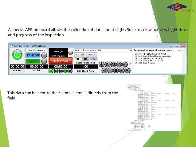 A special APP on board allows the collection of data about flight. Such as, crew activity, flight time and progress of the...