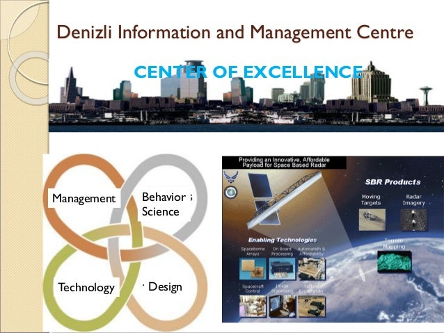 Denizli Information and Management Centre CENTER OF EXCELLENCE Yönetim Davranış Bilimleri TasarımTasarımTeknoloji Manageme...