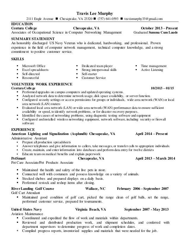 travis lee murphy updated resume
