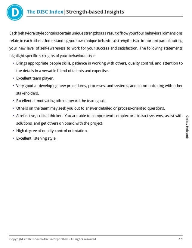 Innermetrix DISC Assessment-Christy_Holcomb