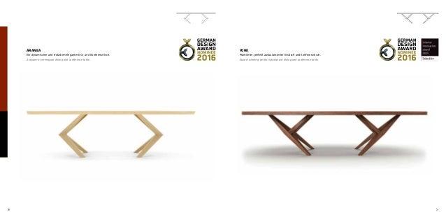 20 21 ARANEA Ein dynamischer und trotzdem eleganter Ess- und Konferenztisch. A dynamic yet elegant dining and conference t...