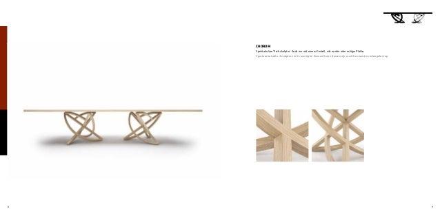 8 9 CHORUM Spektakuläre Tischskulptur. Auch nur mit einem Gestell, mit runder oder eckiger Platte. Spectacular table. A sc...