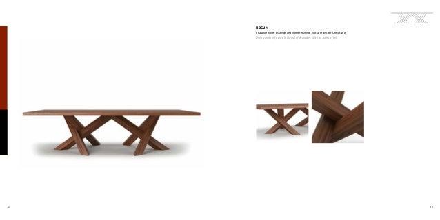 12 13 ROGUM Charaktervoller Esstisch und Konferenztisch. Mit archaischer Anmutung. Dining and conference table full of cha...