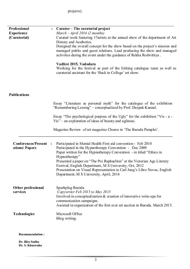 art history resumes template