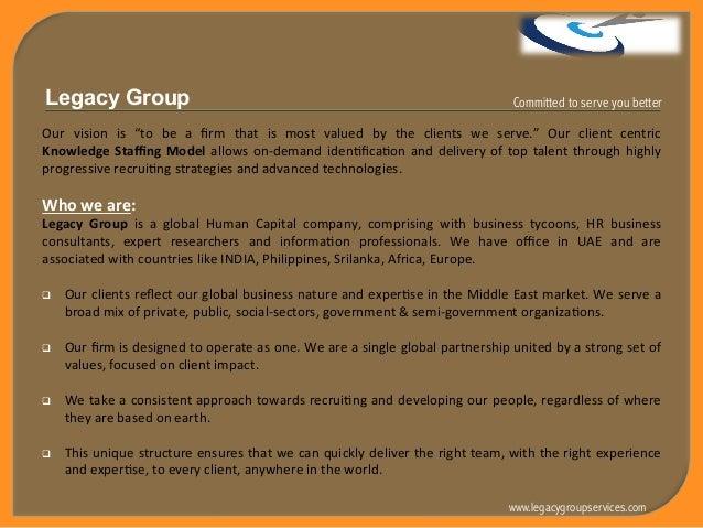 Legacy Group - Company Profile