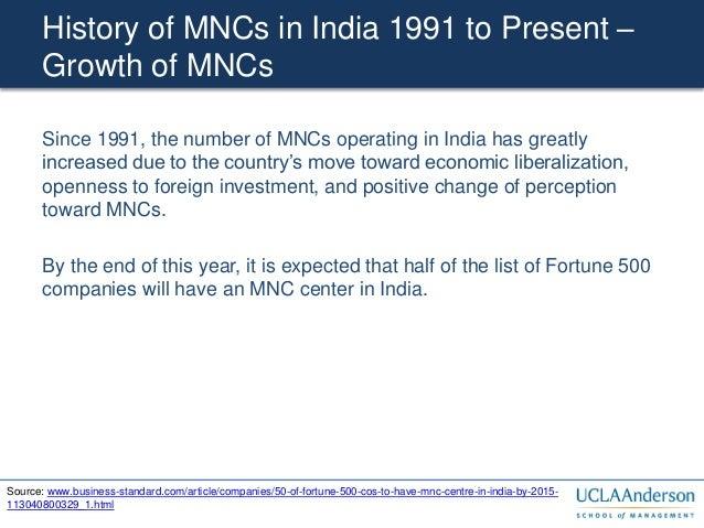 Multinationals In India