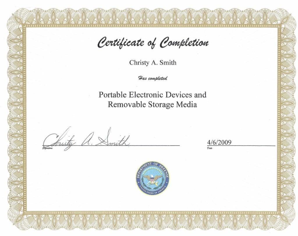 certificates confidential
