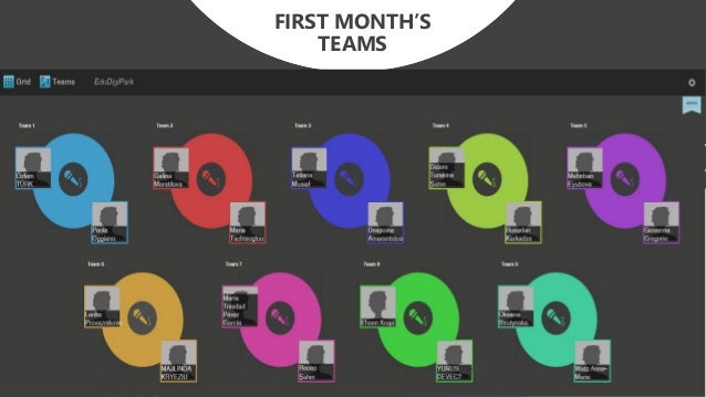 FIRST MONTH'S TEAMS 28.10.2017