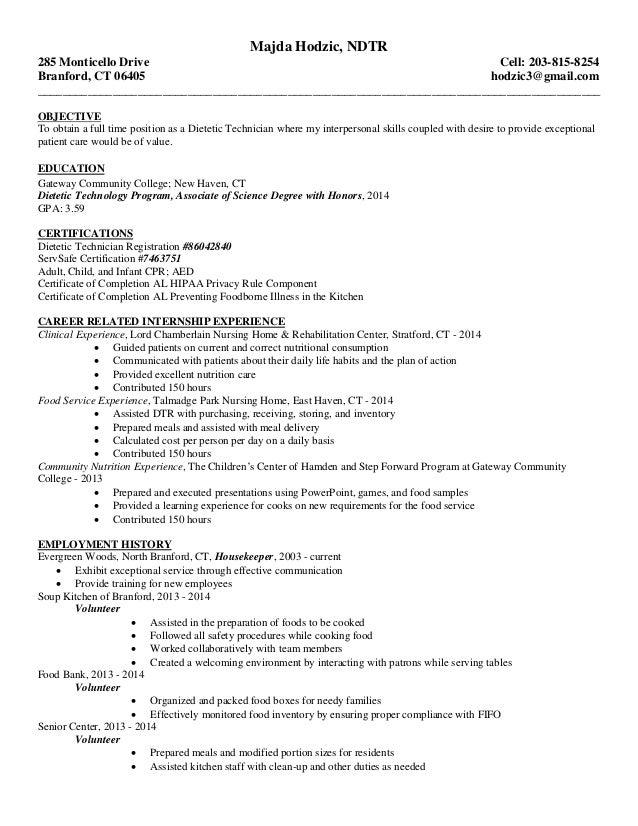 General Resume Dtr