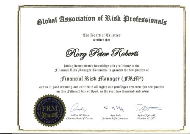 frm certificate slideshare upcoming