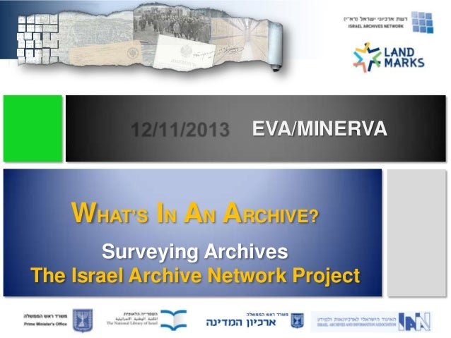 EVA/MINERVA  WHAT'S IN AN ARCHIVE? Surveying Archives The Israel Archive Network Project