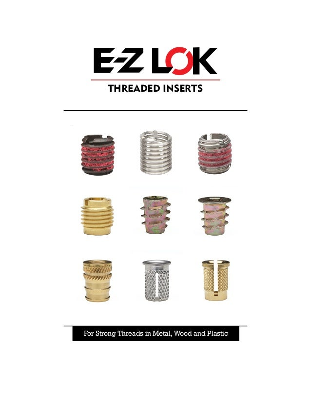 800610-13 Pack of 50 M6-1.0 Internal Threads Zinc Hex-Flush E-Z Lok Threaded Insert 13mm Length
