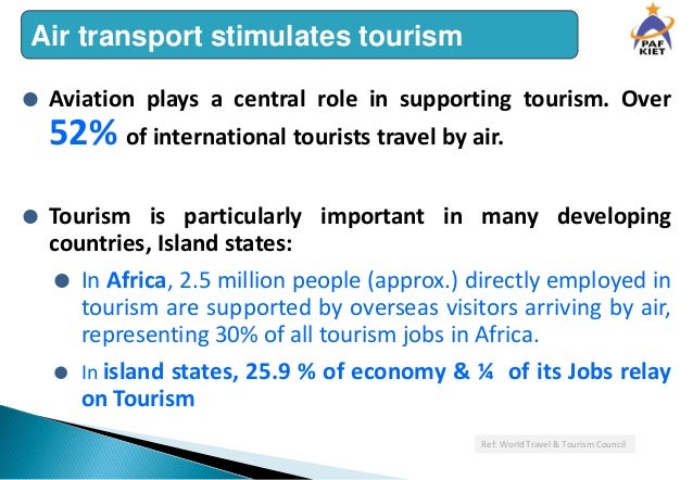 importance of air transport in tourism