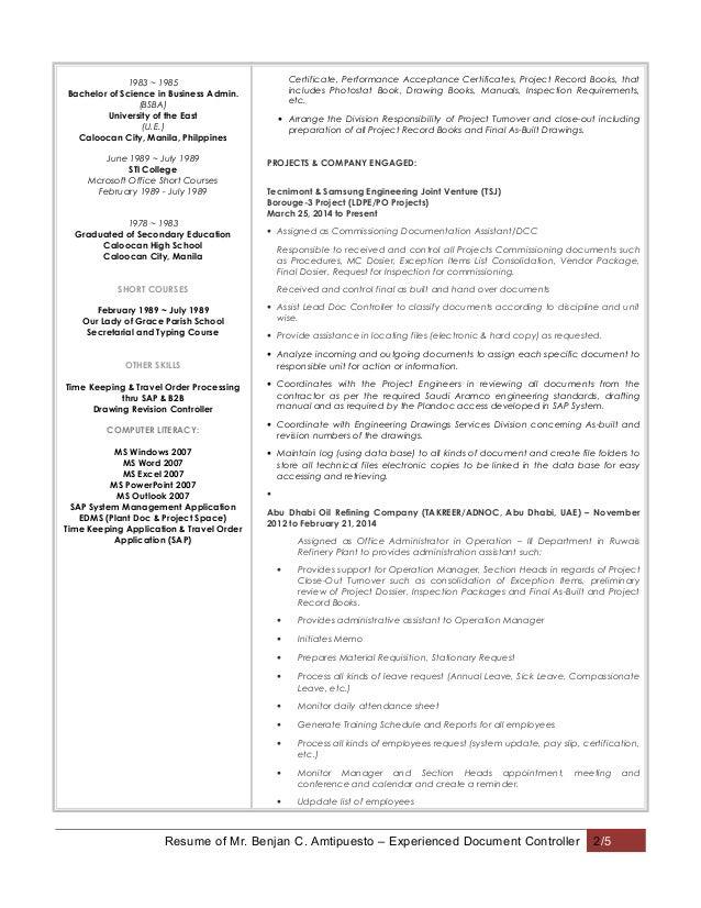 Financial Controller Exemple de CV